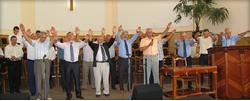 Служители церкви «Благовещение» в Курске